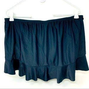 Catalina Black Slimming Peplum Tankini Skirt 16W